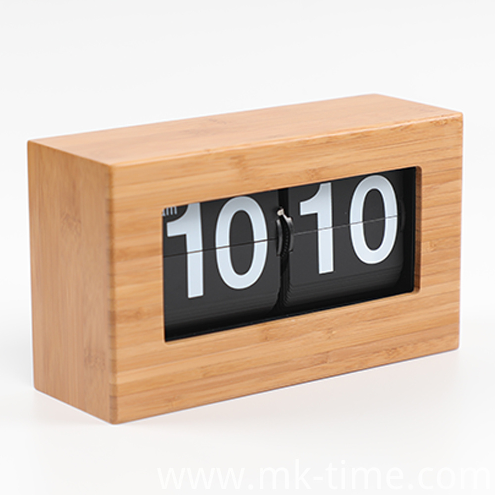 Box Bamboo Clock