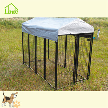 Black wire welded square tube dog kennel cage
