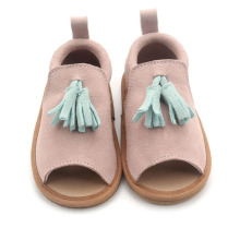 2019 Simple Leather Kids Sandals Girls Fringe Moccasins