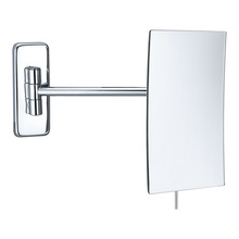 Square frameless magnifying wall mirror