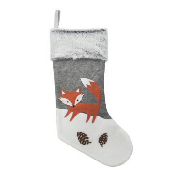 Winter woodland style Christmas stocking