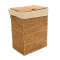 Hand-Woven Water Hyacinth Oval Double Hamper