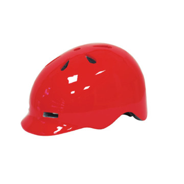 In mould PC shell Skateboard Helmet with visor