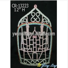 Hot sale Factory for Rhinestone Pageant Crowns Pageant Crown Castle Shape Princess Tiaras supply to Iraq Factory