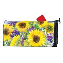 Custom outdoor SUNFLOWER magnet mailbox cover