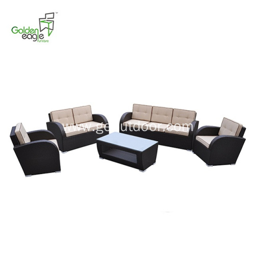 5 pcs Garden popular store wicker sofa set