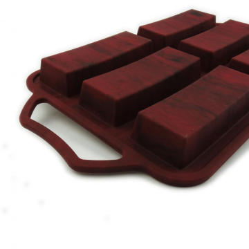Silicone 6 Rectangle Soap Mold