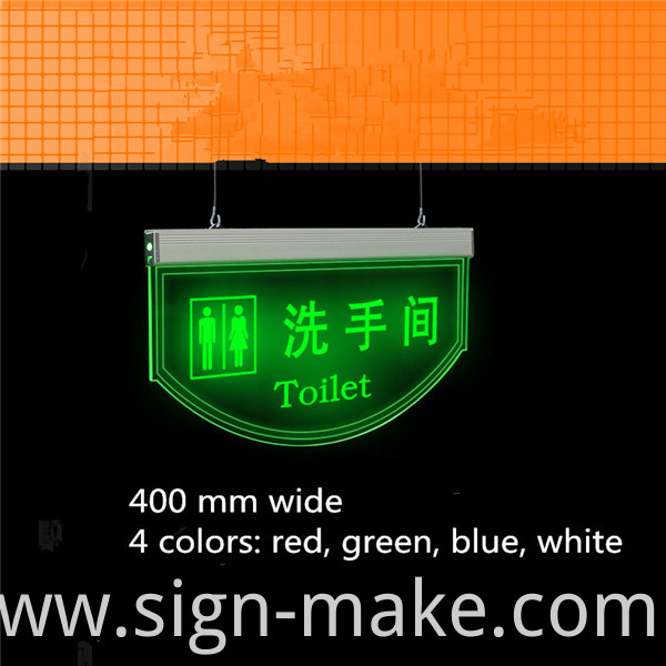hanging toilet signs