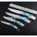 Nickel Blue Imitation Pearl Handle Folding Knife