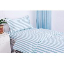 Printed stripe bed linen for hospital