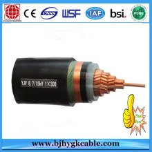 3.6/6kv Cu/XLPE insulation/PVC sheath power cable