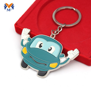 One piece wholesale metal keychain with logo