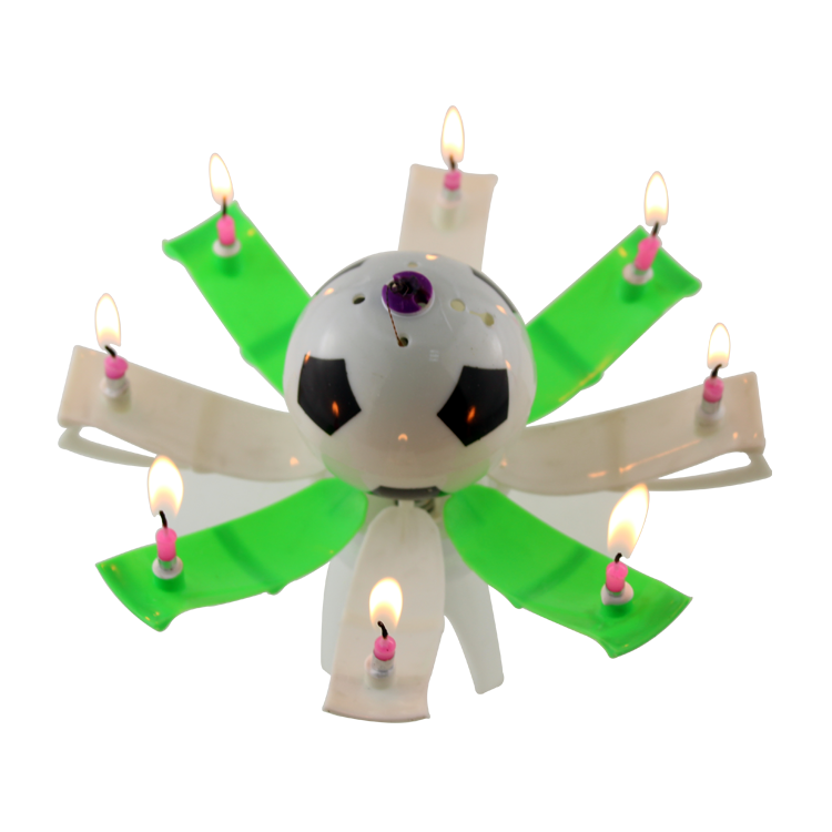 football musical birthday candle1