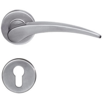 Solid Casting Lever Wooden Door Handle