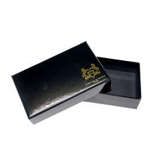 Black Perfume Box With Foil Logo Design