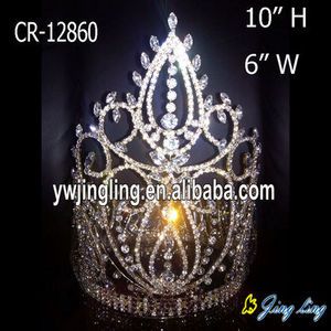 Large Rhinestone Full Round Crowns