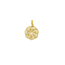 New Fashion Design for K Gold Pendant,Fox Charm K Gold Pendant,Yellow Gold Pendant Manufacturer in China Flower Charm Rotating Pendant supply to Seychelles Supplier