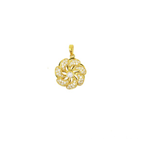 Good Quality for Teddy Bear K Gold Pendant Flower Charm Rotating Pendant export to Pakistan Suppliers