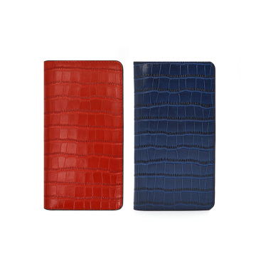 Premium Handmade Crocodile Leather Wallet Flip Phone Case