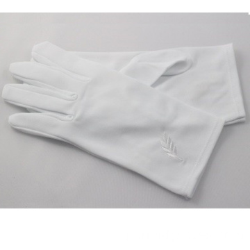 Niestandardowe logo Cotton Masonic Regalia Gloves