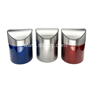 Removable Mini Round Stainless Steel Garbage Can