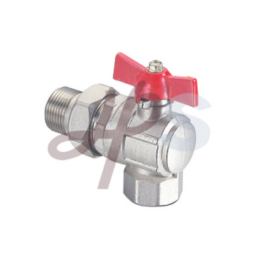 Brass Angle type ball valve for heating system