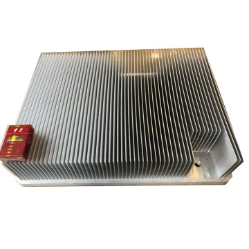 600 mm Skating Fin heatsink Plating Aluminium Skived