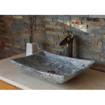 Juparana multicolor grey granite vessel sink