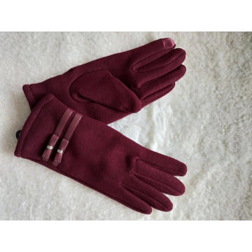 Latest touch screen ladies vintage fabric glove