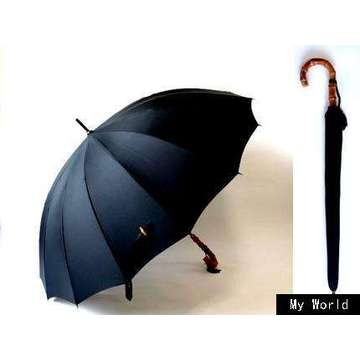 25inch semi automatic wooden handle men umbrella