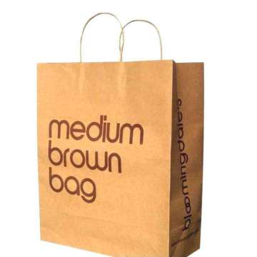 High Quality  Brown Kraft Shopping Bags