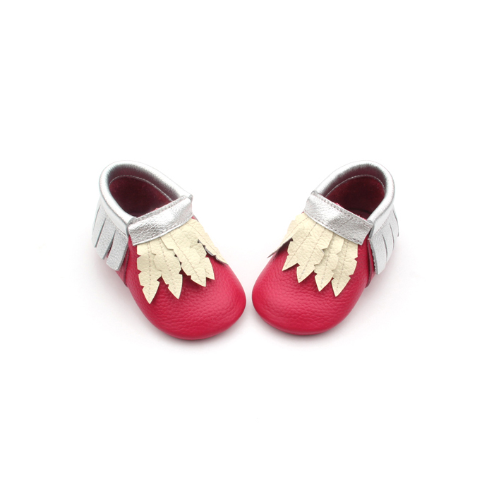 Baby Moccasins Red Shoes