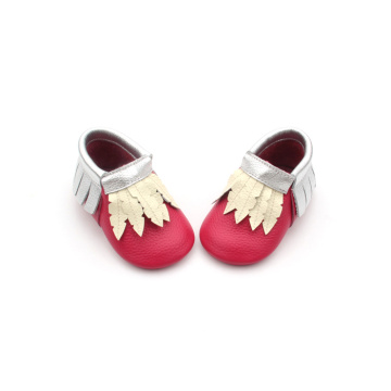 2018 Hot Red Christmas Baby Moccasins Wholesale