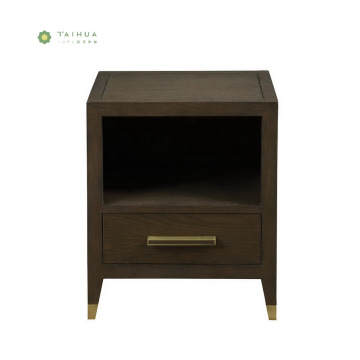 Dark Walnut Solid Wood Night Stands