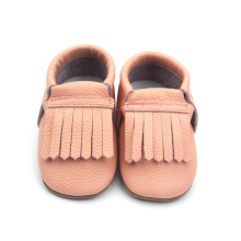 Pink Flat Toddler Infant Moccasins Leather Baby Shoes