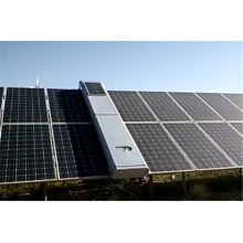 Solar Panel Cleaning System For Solar Park