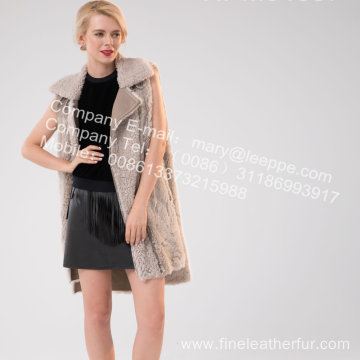 Women Winter Icelandic Lamb Fur Gilet