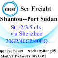 Shenzhen Sea Freight to Port Sudan