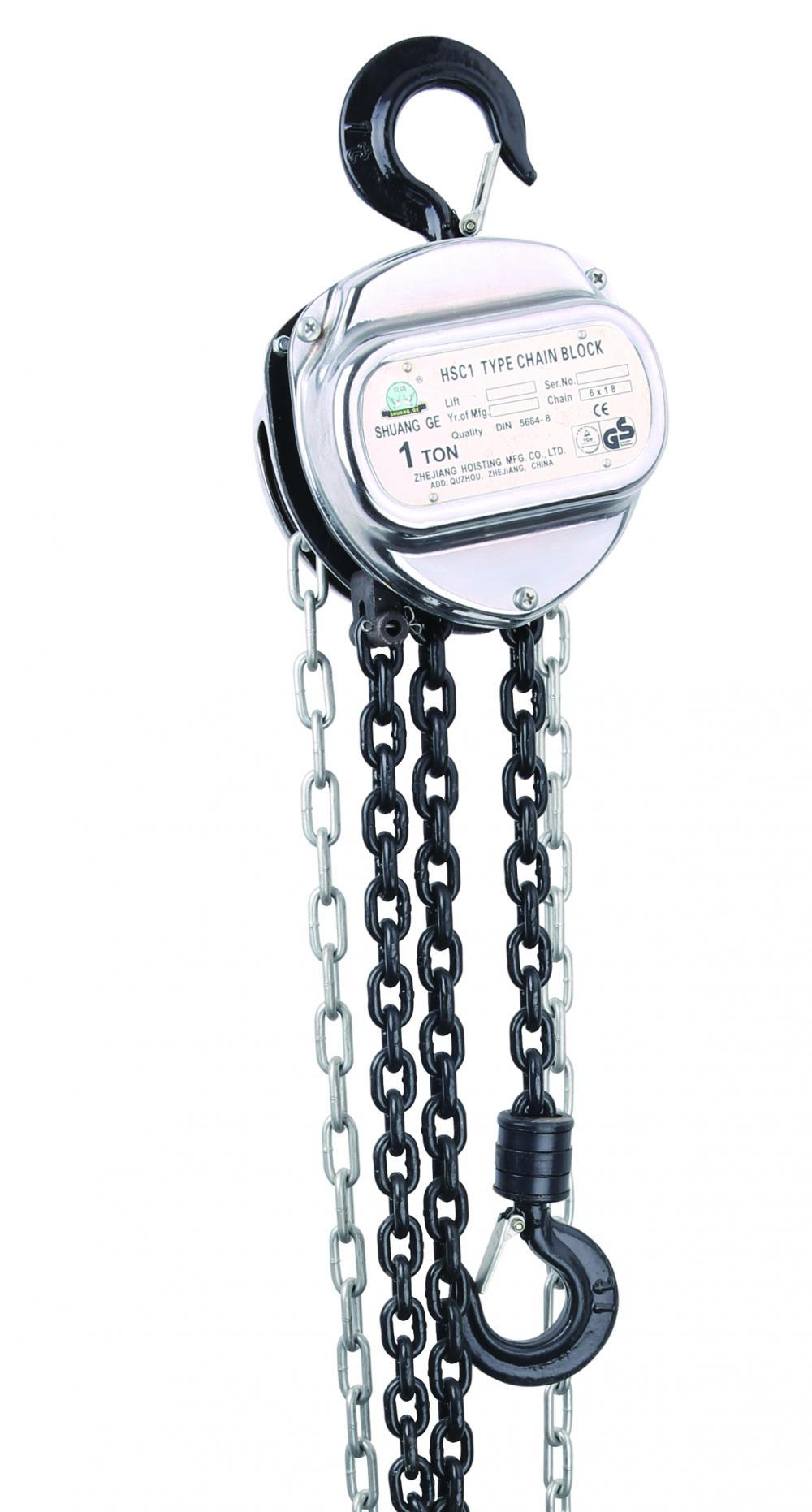 HSC TYPE CHAIN HOIST WITH NICKLE PAINT