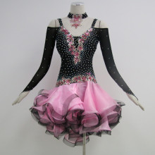 High Definition for Girls Latin Dress Dance outfits for adults supply to Paraguay Supplier