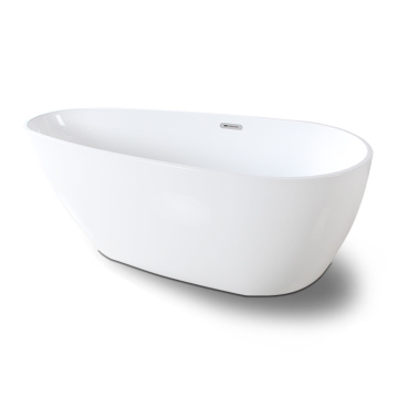 White Freestanding Soaking Bath tub