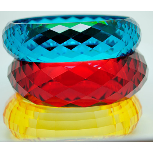 Plastic Colorful Craft Bangles Clear Engraved Bangles