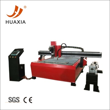 Plasma cutting and drilling machine with rotary shaft