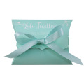 Customized Pillow box packages with ribbon
