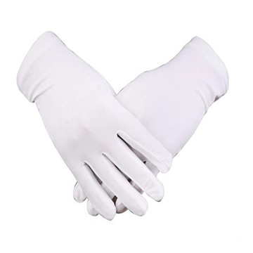 Comfortable Anti-skid White Parade Ceremonial Cotton Gloves