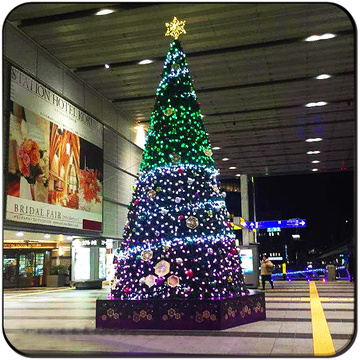 Shopping mall hotel park commercial lighted christmas tree