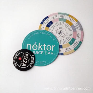 Waterproof circle 0.7mm magnet print sticker