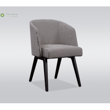 Metal Frame Dining Chair With Fabric Cushion