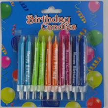 Neon candle for happy birthday party