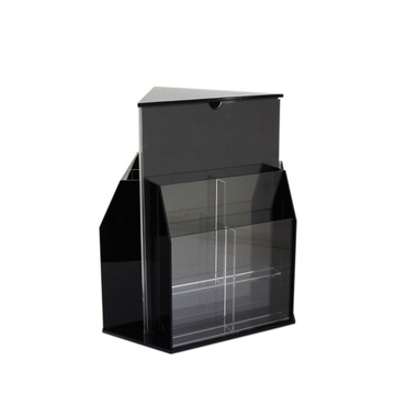 Hot Sale Black Acrylic Brochure Holder